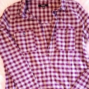 MADEWELL Burgundy Buffalo Check Plaid Shirt
